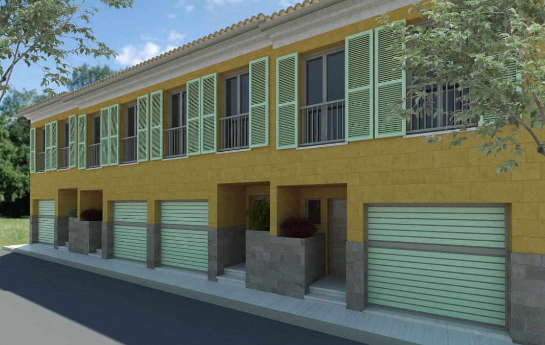 - Project of 4 townhouses with pool in Ses Salines